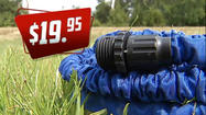 "Tired of dealing with cumbersome garden hoses that are a pain to roll up and store? Are you constantly working to fix kinks in your hose?  Why not try a product that claims to be the ""Hose of the Future""?"