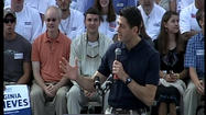 Republican Vice Presidential candidate Paul Ryan spoke at a Roanoke County event Wednesday morning for about 22 minutes.
