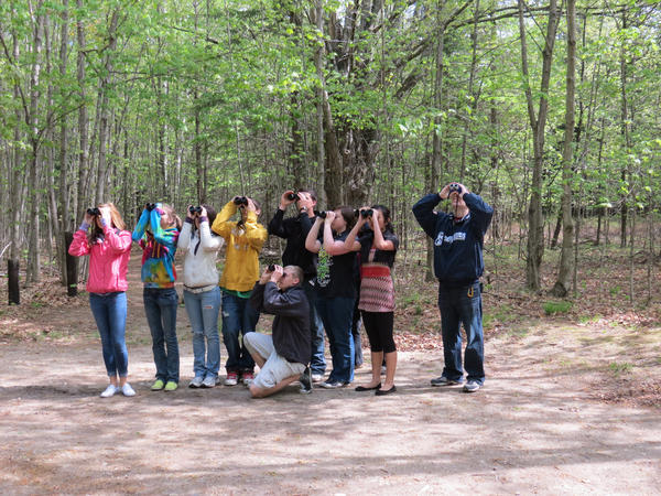 Beaver Island Community School students learn about birds and bird habitat on Beaver Island.