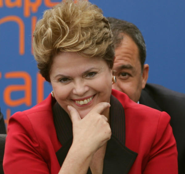 Brazil's President Dilma Rousseff attends a ceremony in Brasila on Aug. 8.