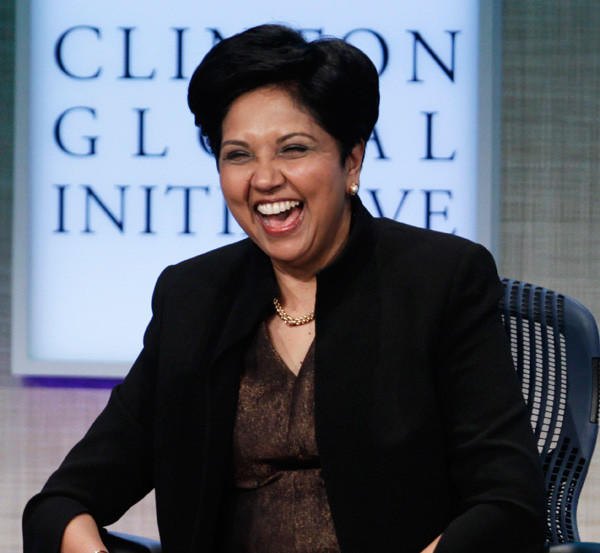Indra Nooyi, chairman and CEO of PepsiCo, at the Clinton Global Initiative in New York on Sept. 21, 2011.