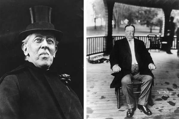 In 1912 Woodrow Wilson (L) won the presidential election to become the 28th President of the United States. William Howard Taft (R) served as the 27th President of the United States and as Chief Justice of the Supreme Court.