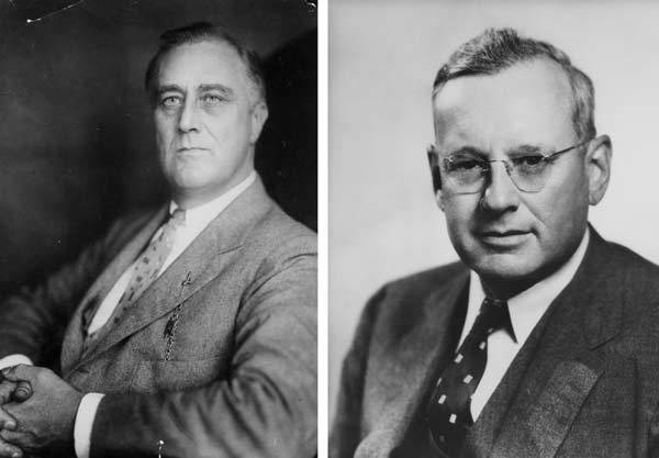 In 1936, Franklin Delano Roosevelt won the presidential election to become the President of the United States for a second term.
