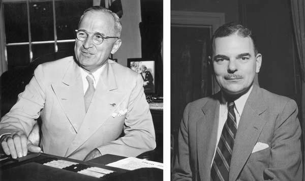 In 1948, Harry S. Truman won the presidential election to become the President of the United States.