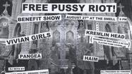 Pussy Riot, the embattled Russian punk band whose members are serving prison time after being convicted Friday on charges of hooliganism, will be the recipients of a Los Angeles benefit concert at all-ages punk club the Smell on Aug. 27.