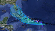 Projected path of Isaac