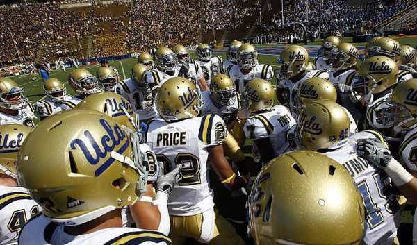 UCLA has not won at Cal since 1998. Here they prepare to take the field before the 2010 game in Berkeley.