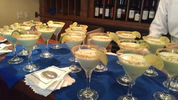 Key lime pie martinis at Prime Catch.