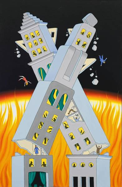 Roger Brown, Ablaze and Ajar, 1972