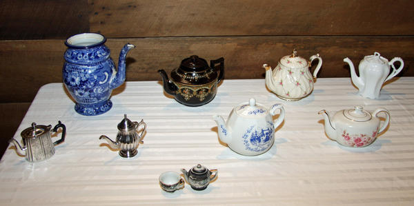 A display of tea pots and tea accounterments concludes Friday, Aug. 24, at Allison-Antrim Museum in Greencastle, Pa.