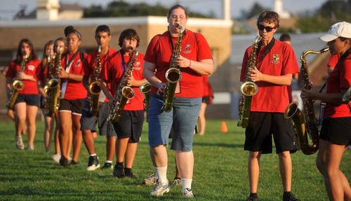 Easton Area High School had their Meet the Band Night at Cottingham Stadium on Wednesday.
