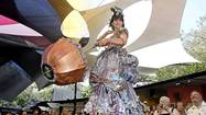 Forget high fashion. Reused and recycled couture were the talk of the town Saturday at the Festival of Arts' fourth annual fashion show.