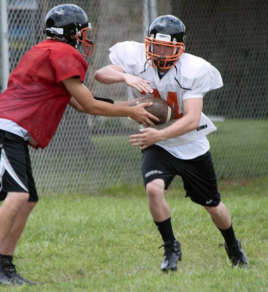 Running Back Brandon Heimbach (34) during Northampton's football practice on Monday.