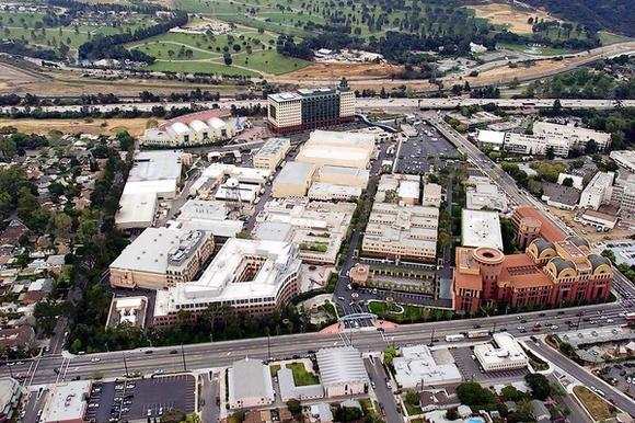 Disney studios from above.