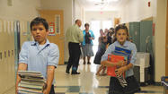 Students' first day at Aberdeen Catholic schools Wednesday signified the beginning of a time of growth, with the schools seeing an uptick in enrollment, specifically at the kingergarten level.
