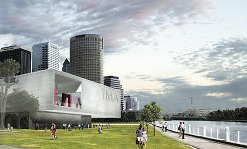 The new Tampa Museum of Art seen in this artist's rendering is designed by San Francisco-based, South African-born architect Stanley Saitowitz.<br> <br> Where: 120 Gasparilla Plaza, Tampa<br/> When: 11 a.m. to 7 p.m. Wednesday and Friday; 11 a.m. to 9 p.m. Thursday; 11 a.m. to 5 p.m. Saturday and Sunday<br/> Cost: $10 adults; $7.50 seniors, groups, military plus one guest; $5 students; free for children under 6<br/> Info: 813-274-8130; tampamuseum.org