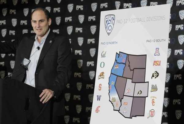 Pac-12 Commissioner Larry Scott in October 2011.