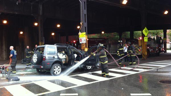 Firefighters responded to a fatal single-vehicle crash at the intersection of Kinzie and Clinton Streets this morning.