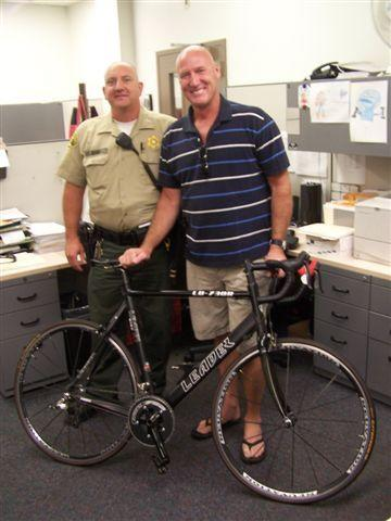 On Aug. 20, Crescenta Valley sheriffs reunited a La Canada Flintridge man with a bike stolen from him two months previously.