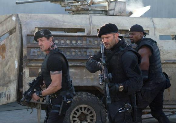 """The Expendables 2"" will be No. 1 at the box office for the second consecutive weekend."