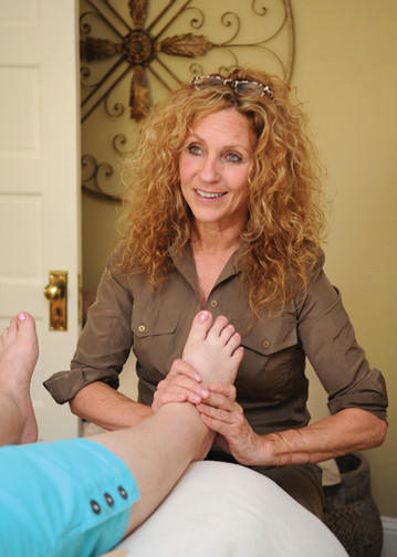 Skye Fitzkee, owner of Skye Body & Soul in Bel Air is a certified reflexologist.