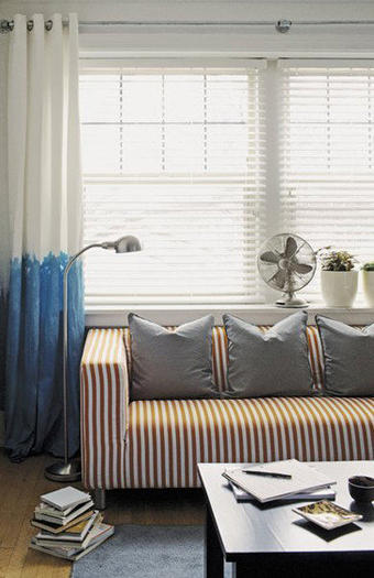 Making waves: the dip-dye curtain
