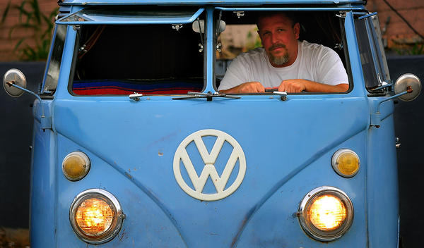 "Jason Kauffman will take his 1966 Volkswagen bus to the Simple Transport show at Hagerstown Fairgrounds. The vintage bus once took him on an 8,500-mile trip and is still his daily driver. It was shown in a scene of 2009 feature film ""Taking Woodstock."""