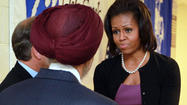 OAK CREEK, Wis. — First lady Michelle Obama met Thursday with relatives of the six people killed in a shooting rampage Aug. 5 at the Sikh Temple of Wisconsin.