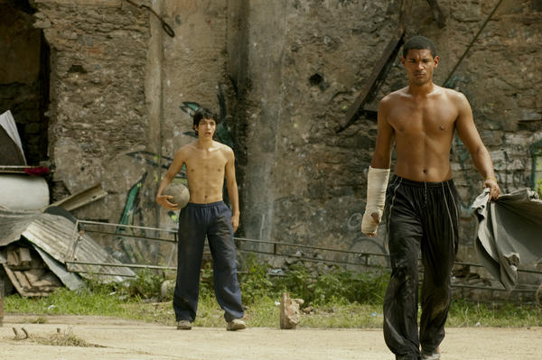 "Eliu Armas and Fernando Moreno in ""Hermano."""