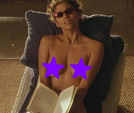 Celebrate Go Topless Day, Hollywood-style: Halle Berry has a body to die for, but until this bomb of a thriller, she hadnt revealed her lovely lady lumps to the camera. Berry denies the rumor that she got half a mil for the display, but she cant deny that the unveiling was out of nowhere -- her character was reading a book sans bra, and she simply lowered the tome, gave the audience a peek, then raised it again. Weird.   Bonus leer-fodder for those who enjoy the male torso: Hugh Jackman has a scene where hes playing golf in a tiny little towel!
