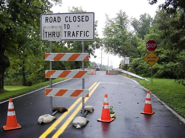 The Church Lane Bridge in Lower Macungie Township is closed to protect the small bridge from the wear of detoured traffic from the Spring Creek Road Bridge replacement project a mile to the south.