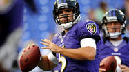 Joe Flacco faked a handoff, spotted Anquan Boldin alone in the back of the end zone and connected with hit him for the easy touchdown. He then ran to the sidelines, pumping his fist nearly the entire way.