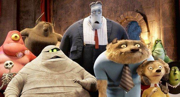 "Some of the guests at the castle in ""Hotel Transylvania."""