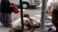 Graphic Raw Video: Victims outside Empire State Building shooting