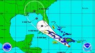 Tropical Storm Isaac is gaining strength and organization just south of the Dominican Republic as of Friday morning, and forecasters are still expecting it to follow a northwestern path into the Gulf of Mexico.
