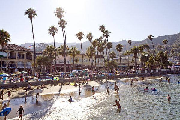 Sun, sand and surf on Catalina Island