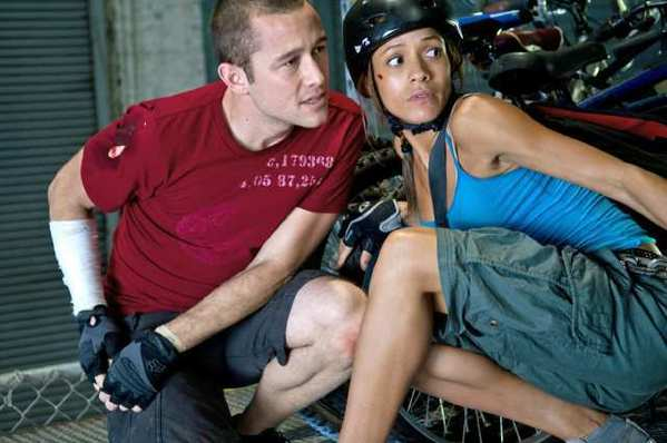 "Joseph Gordon-Levitt and Dania Ramirez star in Columbia Pictures' ""Premium Rush."""