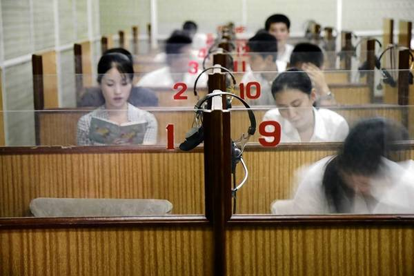 North Korean students taking a Chinese language class