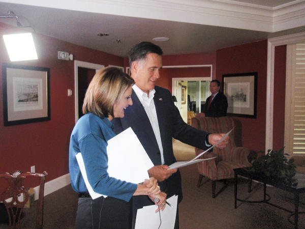 "CNN's chief political analyst Gloria Borger with Mitt Romney. Borger profiles the GOP presidential candidate in ""Romney: Family, Faith and the Road to Power,"" at 8 p.m. Sunday on CNN as part of the channel's convention coverage."
