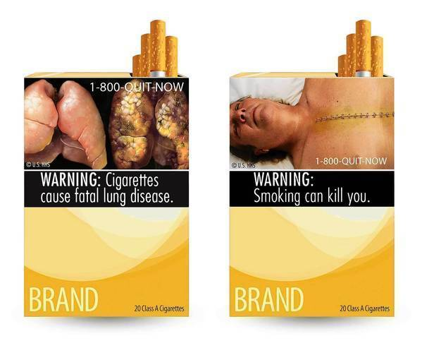 "The graphic images on the government's proposed cigarette warning labels are ""unabashed attempts to evoke emotion and …shock the viewer,"" a judge said."