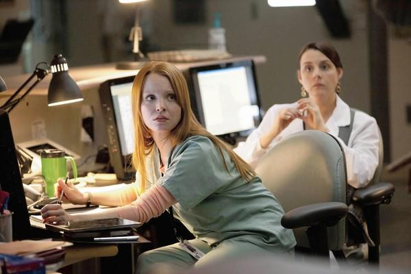 """Lauren Ambrose as Susan Wheeler in """"Coma"""" on A&E."""