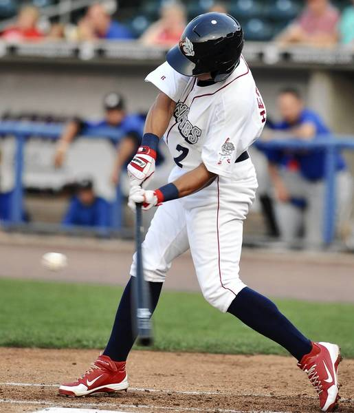 Cesar Hernandez had three hits Friday night against Rochester.
