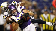 MINNEAPOLIS — Nick Novak's 45-yard field goal as time expired gave the San Diego Chargers a 12-10 victory on Friday over Minnesota, after Vikings quarterback Christian Ponder struggled along with the rest of the starting offense.