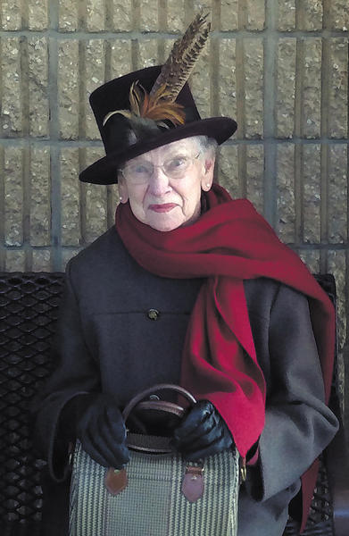 Shirley Fout Miller was known for her impeccable style. She is wearing a hat purchased in London as a gift for her.