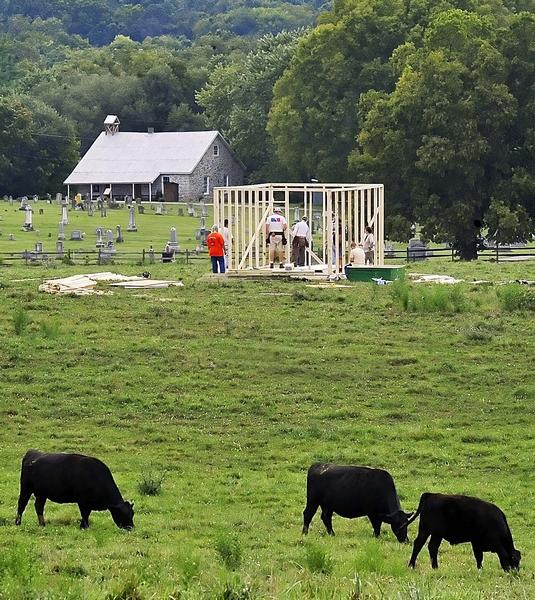 A replica of Dunker Church is being built off Bakersville Road for the 150th Anniversary of the Battle of Antietam.