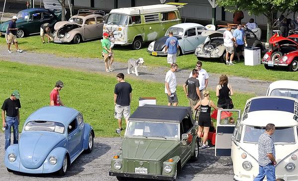 Various models of Volkswagens were on display at Fairgrounds Park on Saturday.