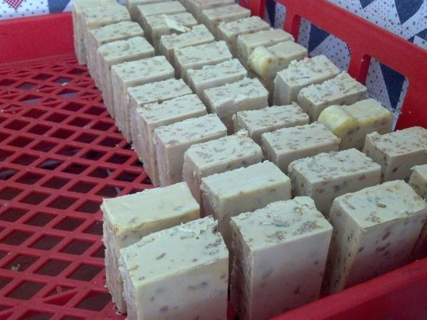 The Dn'D Farms' goat's milk soaps are all dried for a minimum of five weeks to ensure that they will last for longer periods of time.
