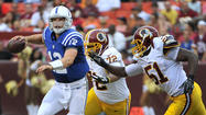 Luck outshines Griffin, but Redskins win 30-17