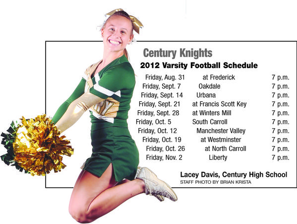 Century High School, with Lacey Davis of the Knights Cheerleading team.