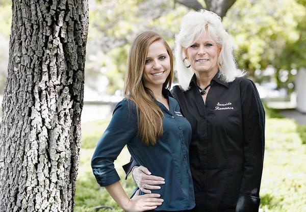 Alyssa Shapiro and her mother, Pam Shapiro, started a business called Seaside Romance, which caters to couples looking for a romantic date. Alyssa, 19, attends Concordia University in Irvine.